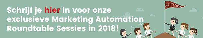 Komend jaar organiseren wij weer een heel jaar Marketing Automation roundtables. Schrijf je nu in!